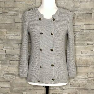Bershka Knitwear grey double-button cardigan